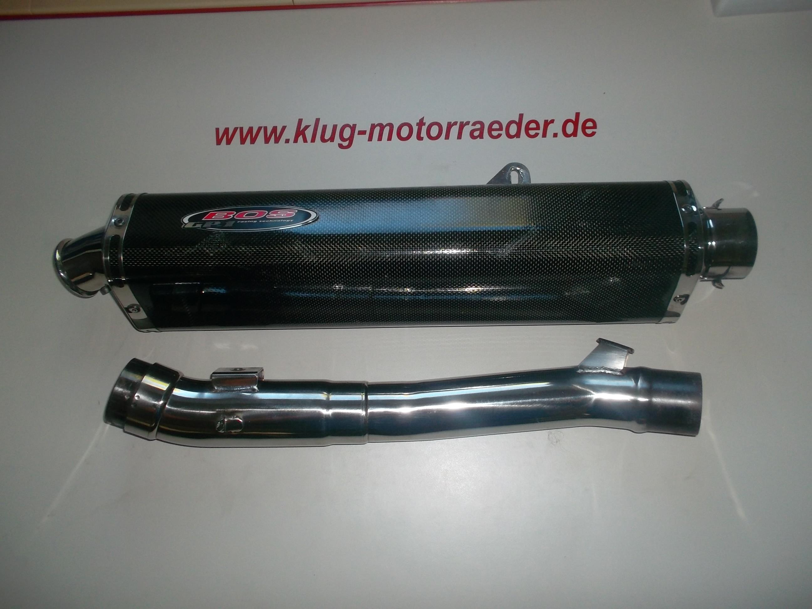 BOS GP1 Auspuff Carbon Suzuki GSF 1200 Bandit Image